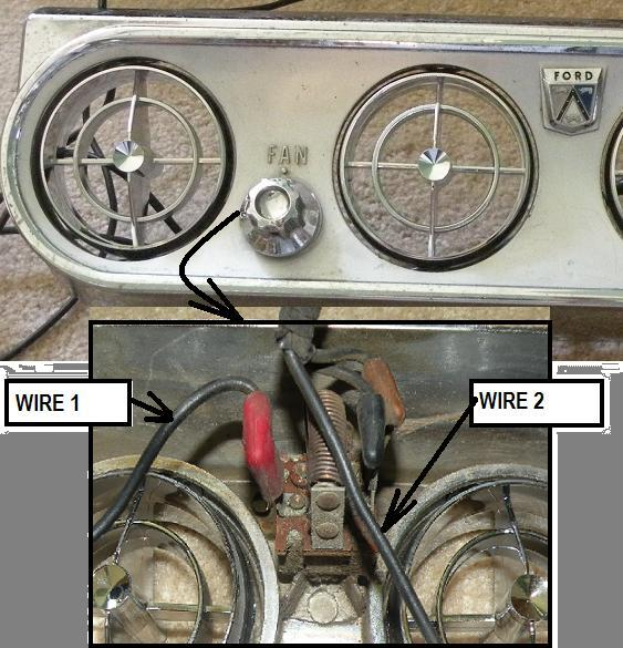 Schematic Shows The Ford Mustang 50 Air Conditioner Control Wiring