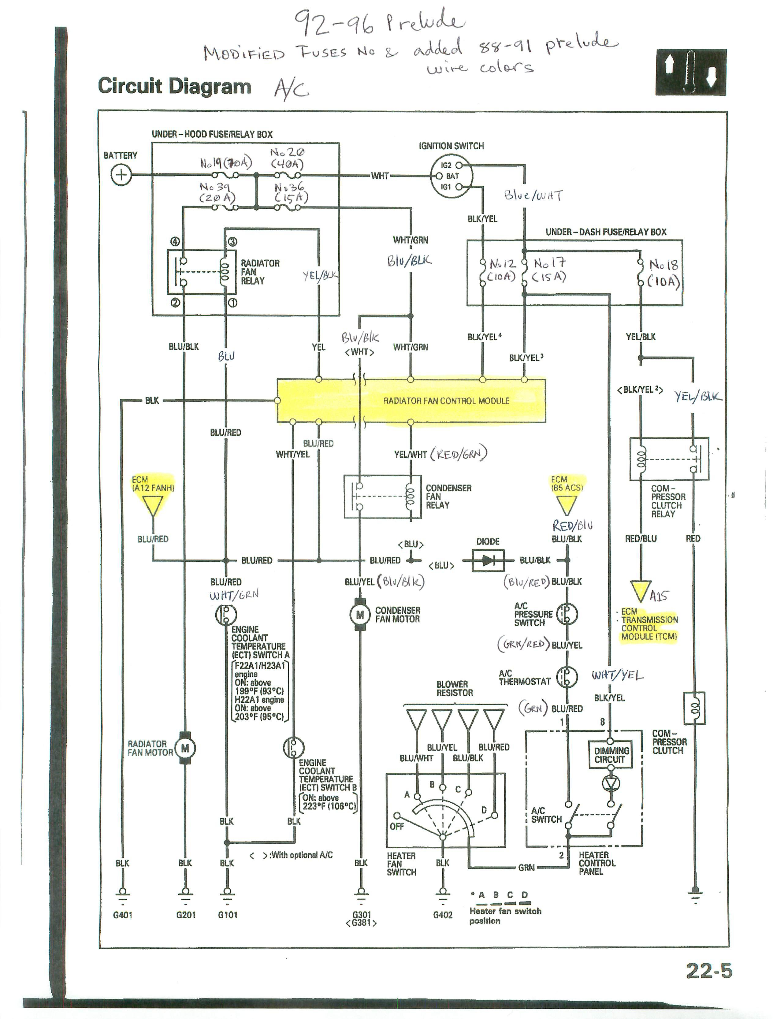 Japanese were very notorious for making constant changes very well possible those diagrams are not even accurate have to dig into the vehicle.  sc 1 st  Auto AC forum : h22a wiring harness diagram - yogabreezes.com